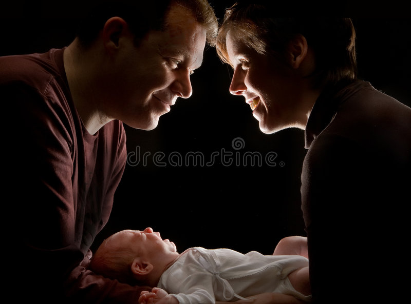 Download Couple with baby stock image. Image of generation, fragile - 4945021