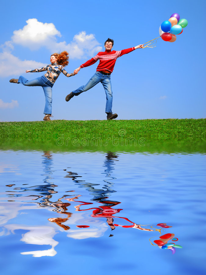 Download Couple With Balloons Stock Photography - Image: 2248272