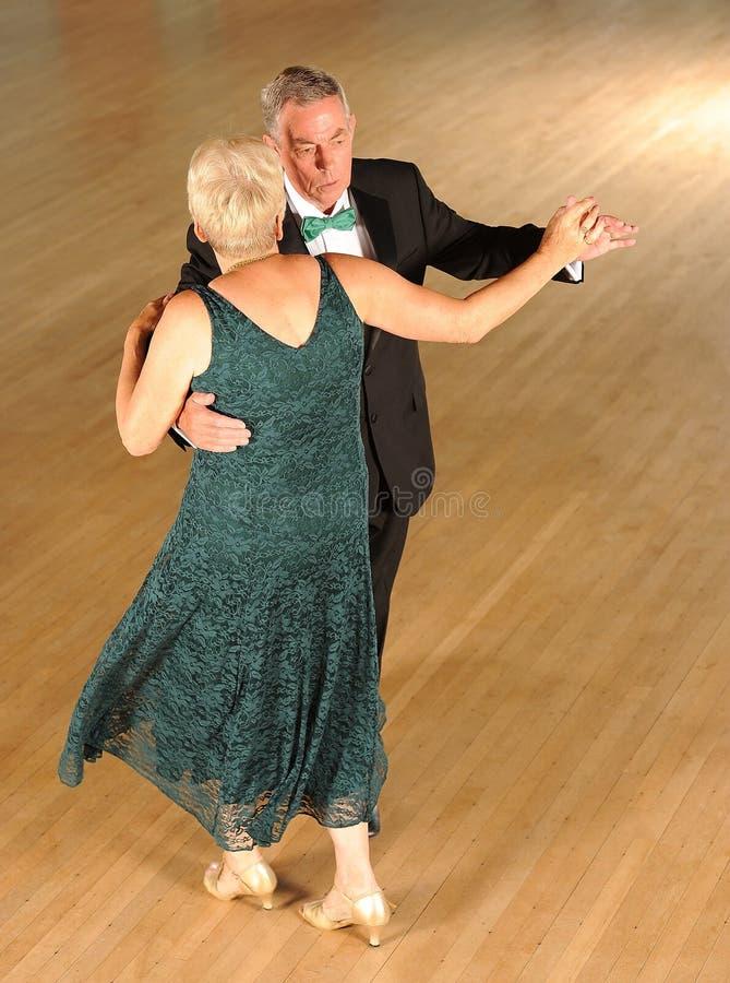 Couple ballroom dancing royalty free stock photography