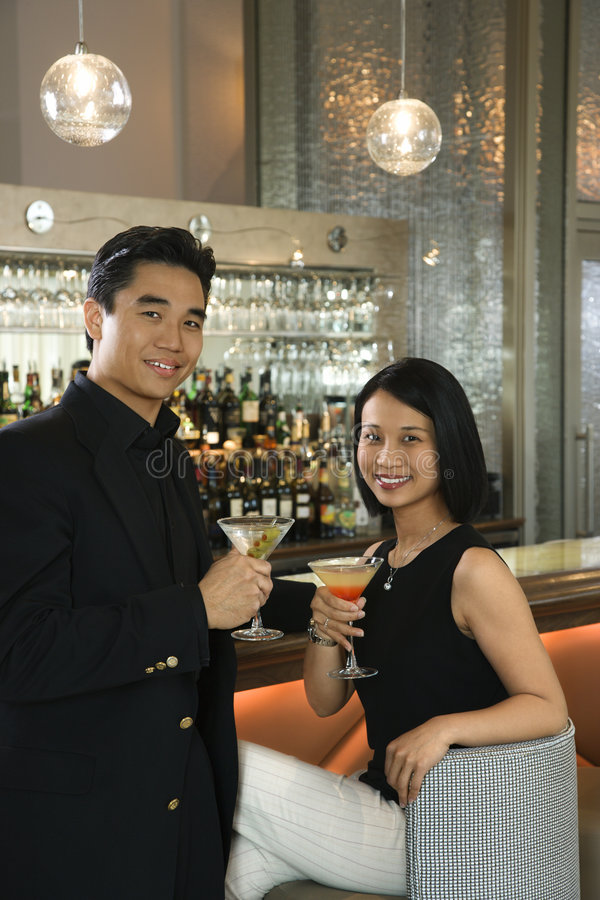 Download Couple at bar stock image. Image of woman, martini, people - 2045059