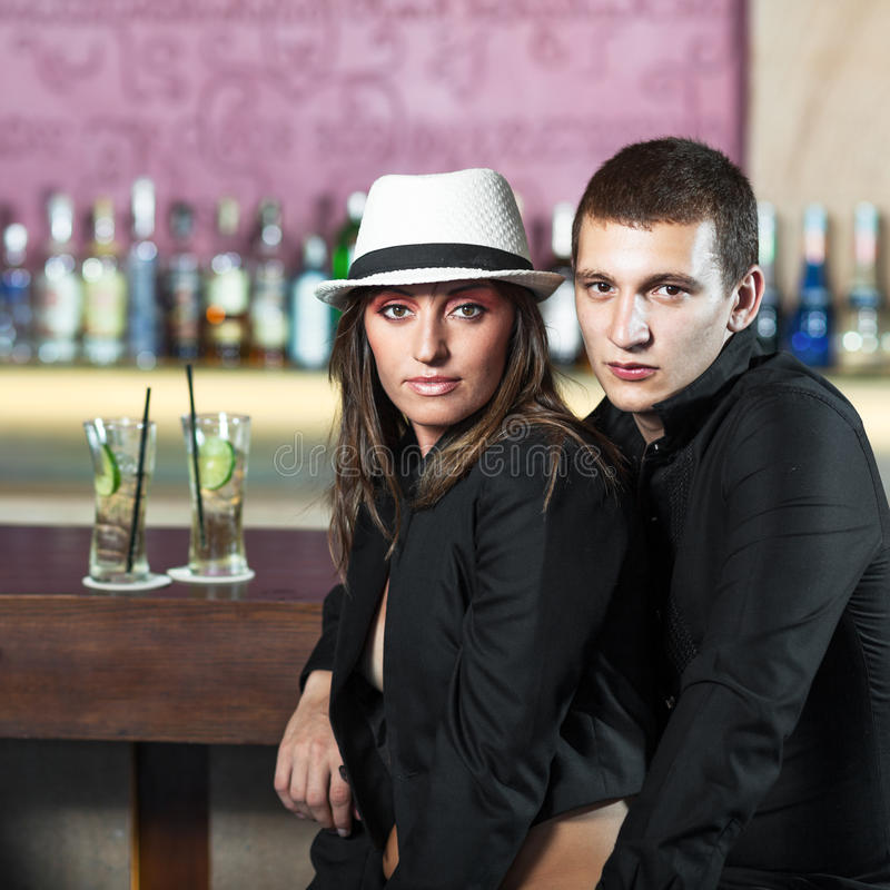 Download Couple in the bar stock image. Image of cocktail, female - 24671509
