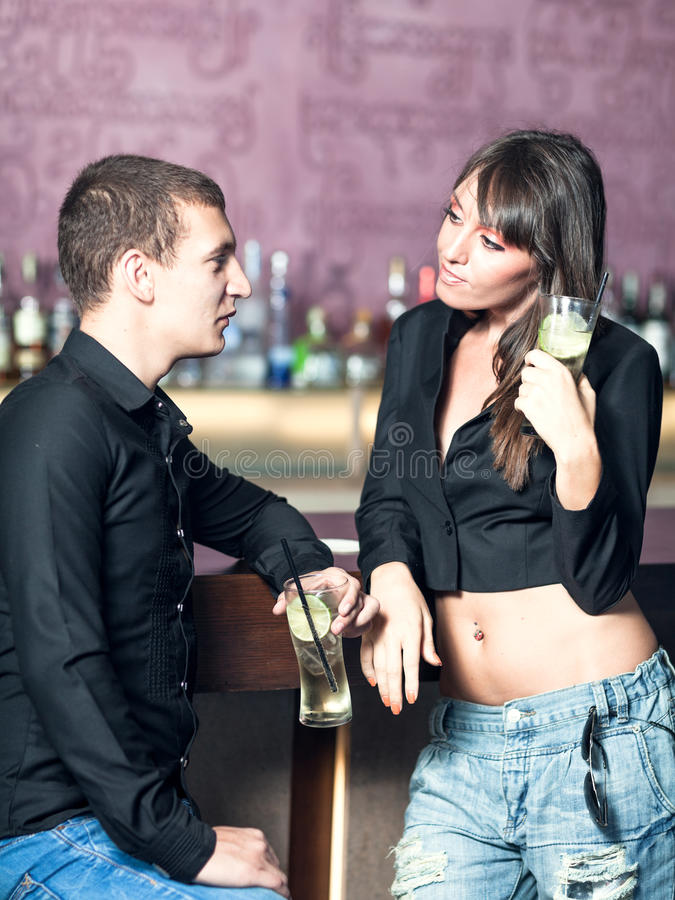 Download Couple in the bar stock photo. Image of caucasian, person - 25057304