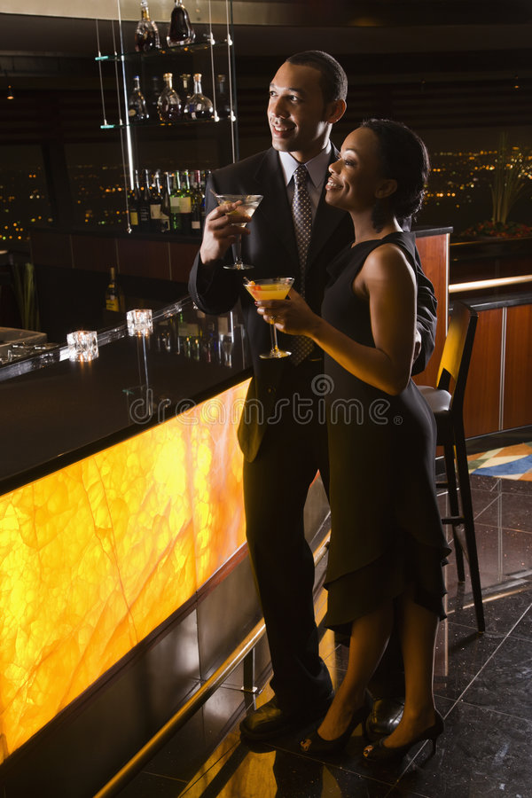 Download Couple at bar. stock photo. Image of alcohol, african - 2850038