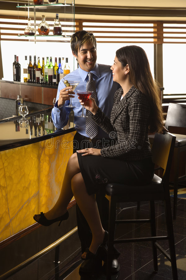 Download Couple at bar. stock image. Image of colleague, businesswoman - 4244431