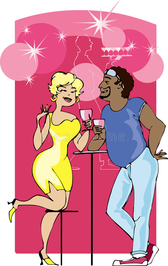 Download Couple in the bar stock illustration. Illustration of chat - 975002