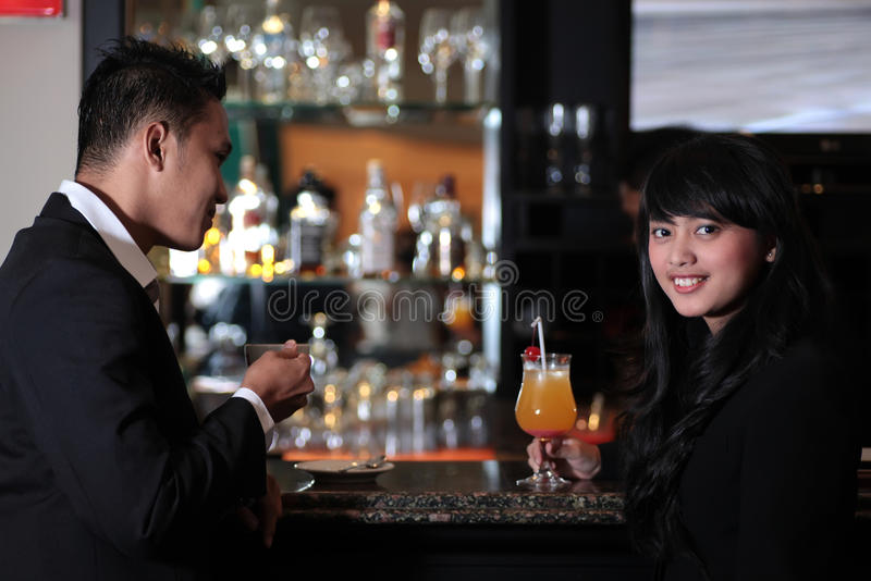 Download Couple at bar stock photo. Image of service, restaurant - 40180884