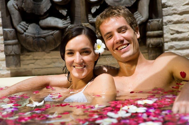 Couple In Bath stock photo