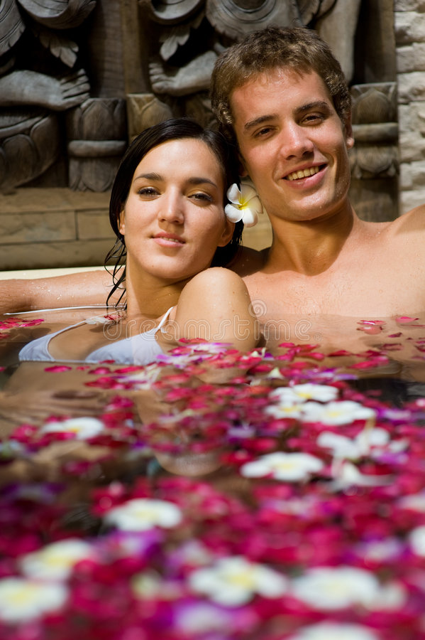 Couple In Bath royalty free stock images