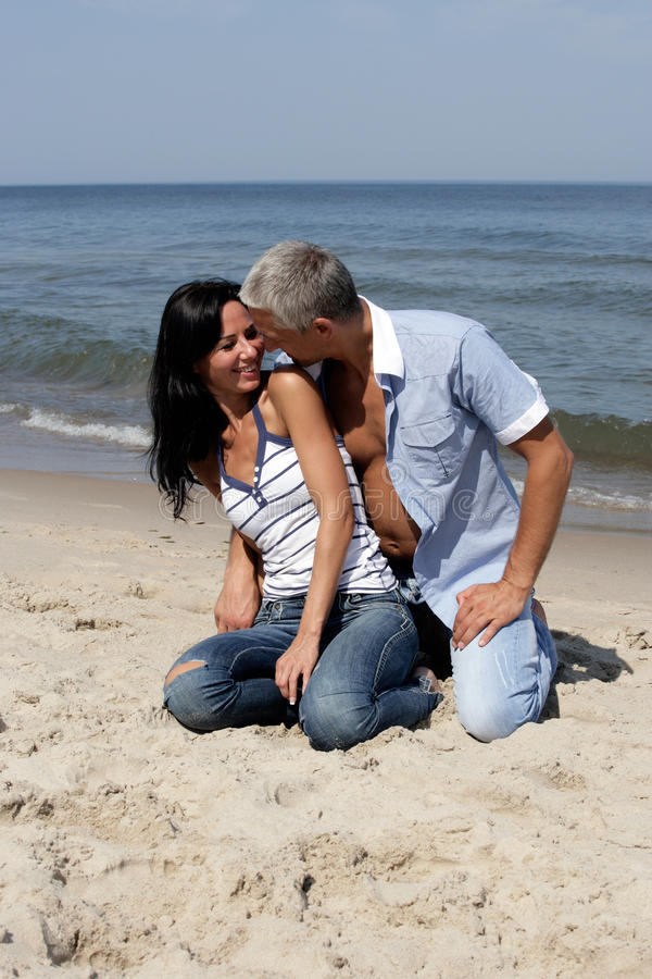 Download Couple on the beach stock image. Image of honeymoon, clothing - 11076493