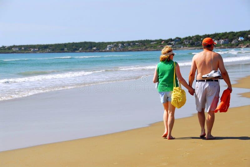 Couple beach royalty free stock photo