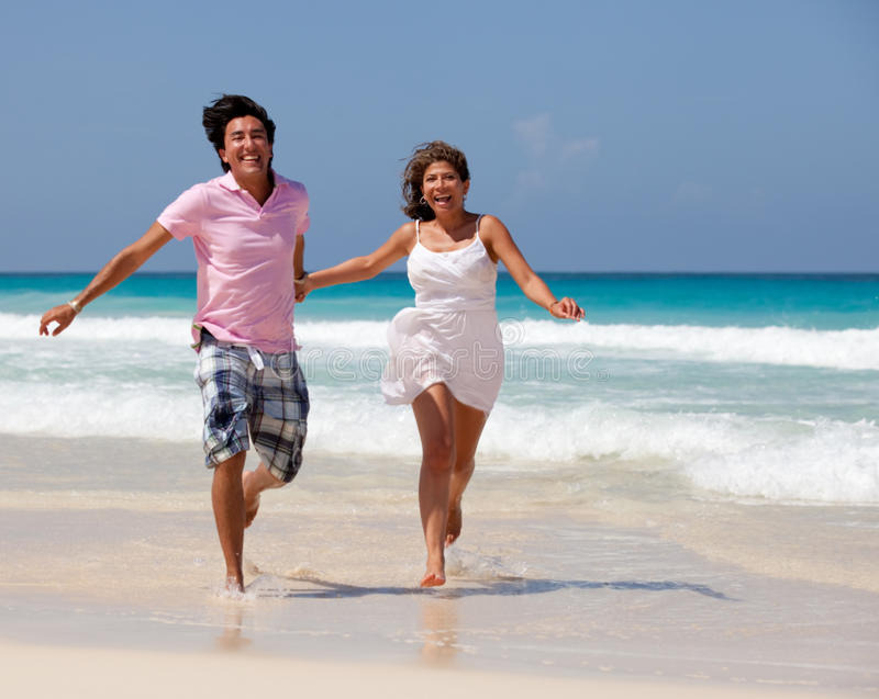 Download Couple at the beach stock photo. Image of love, female - 21718942