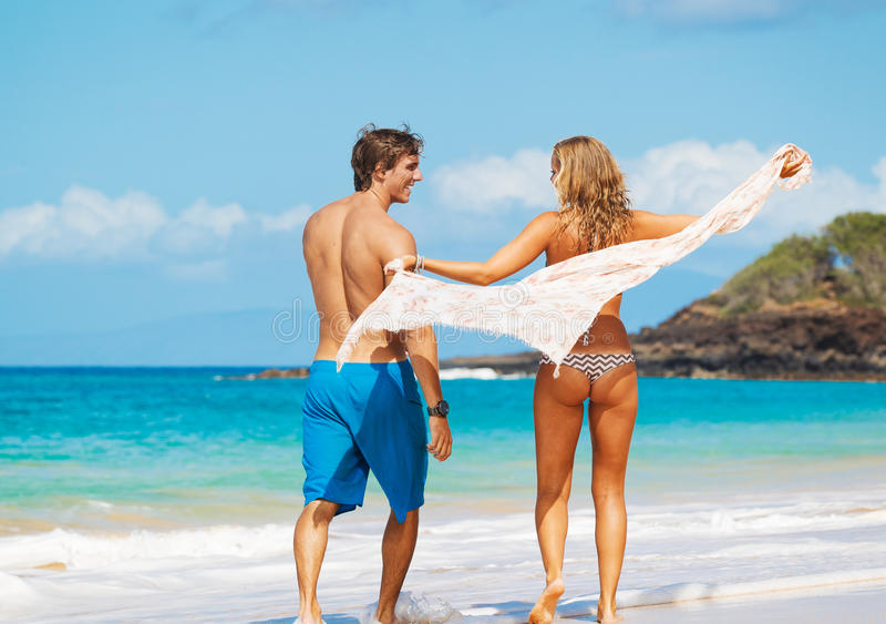 Download Couple On The Beach Royalty Free Stock Photos - Image: 24656148