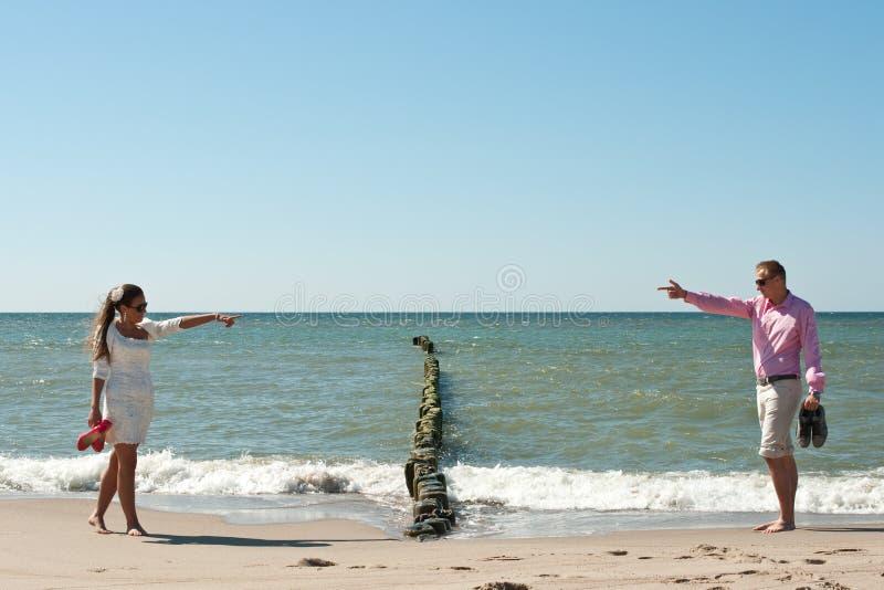 Download Couple on beach stock photo. Image of newly, blue, stylish - 26428918