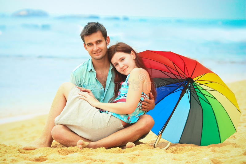 Download Couple on the beach stock photo. Image of lanka, honeymoon - 28392642