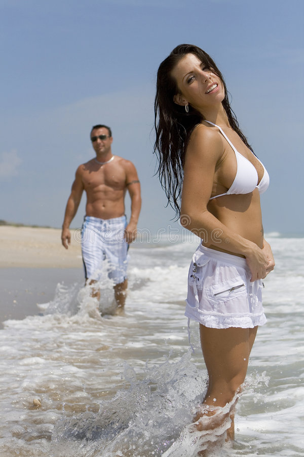 Download Couple On A Beach Stock Images - Image: 2907974