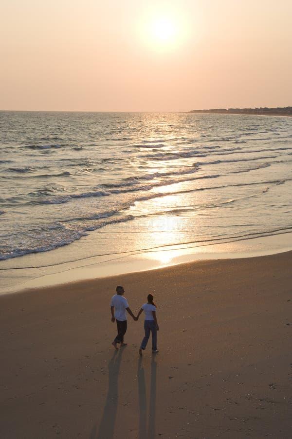 Couple on beach. stock photography