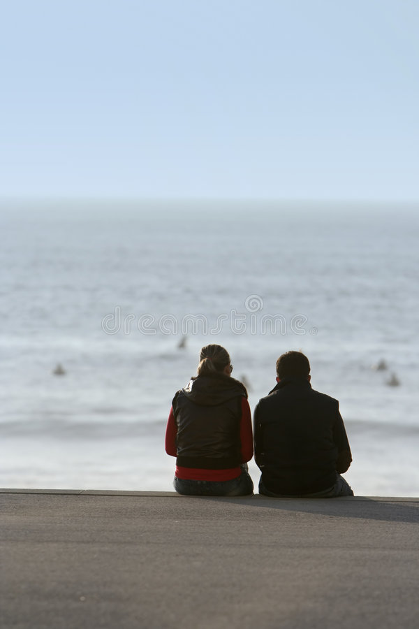 Download Couple in the beach stock photo. Image of relationship - 4176196
