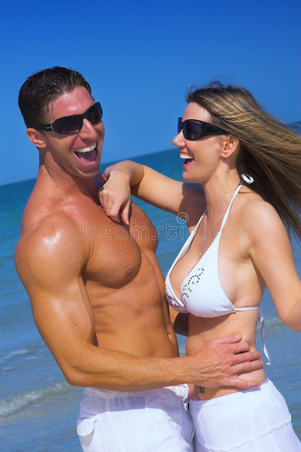Download Couple at beach stock image. Image of casual, pair, midage - 4782509