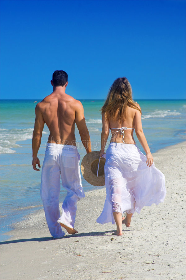 Download Couple at beach stock image. Image of romance, back, couple - 4782533