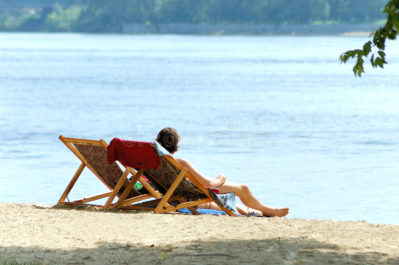 Download Couple on the beach stock photo. Image of deck, recreation - 835034