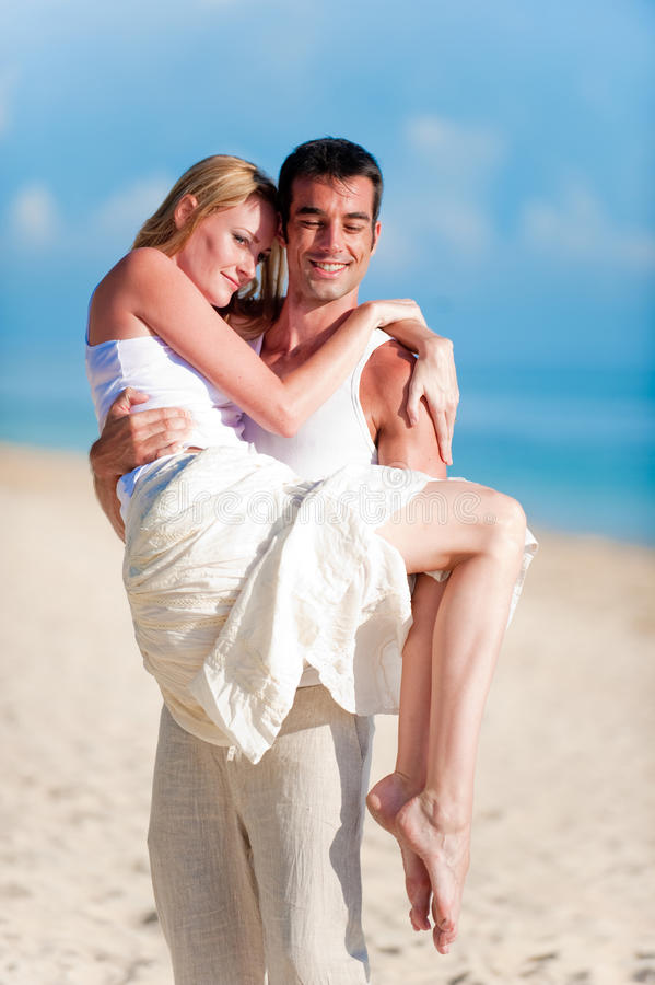 Download Couple On Beach stock photo. Image of smiling, male, handsome - 9741280