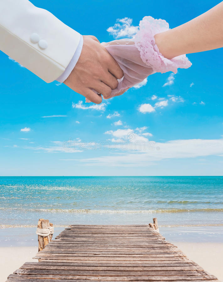 Couple At Beach Stock Images