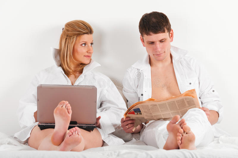 Download Couple In Bed Royalty Free Stock Photos - Image: 19371608