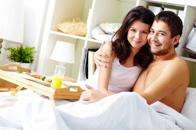 Download Couple in bed stock photo. Image of amorous, closeness - 26817194