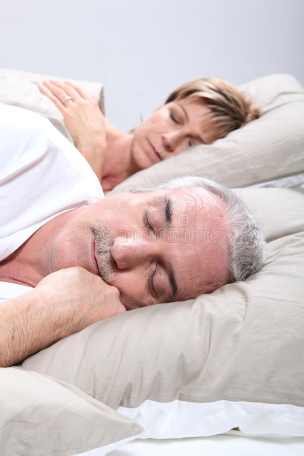 Download Couple In Bed Sleeping Royalty Free Stock Photos - Image: 24022928