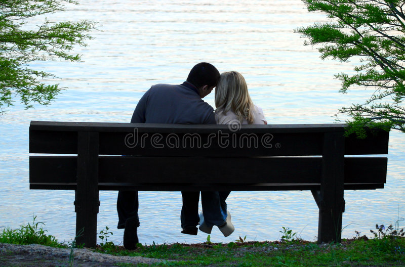 Download Couple On A Bench Stock Photos - Image: 205633