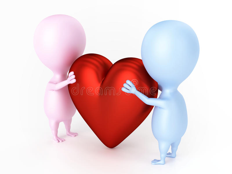 Download Couple And Big Heart Royalty Free Stock Photography - Image: 32830167