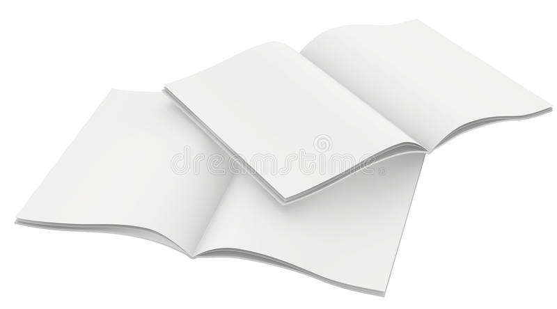 Couple of blank magazines template. on white vector illustration