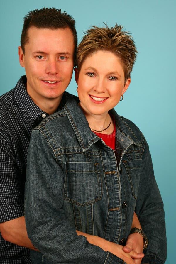 Couple Blue royalty free stock photo