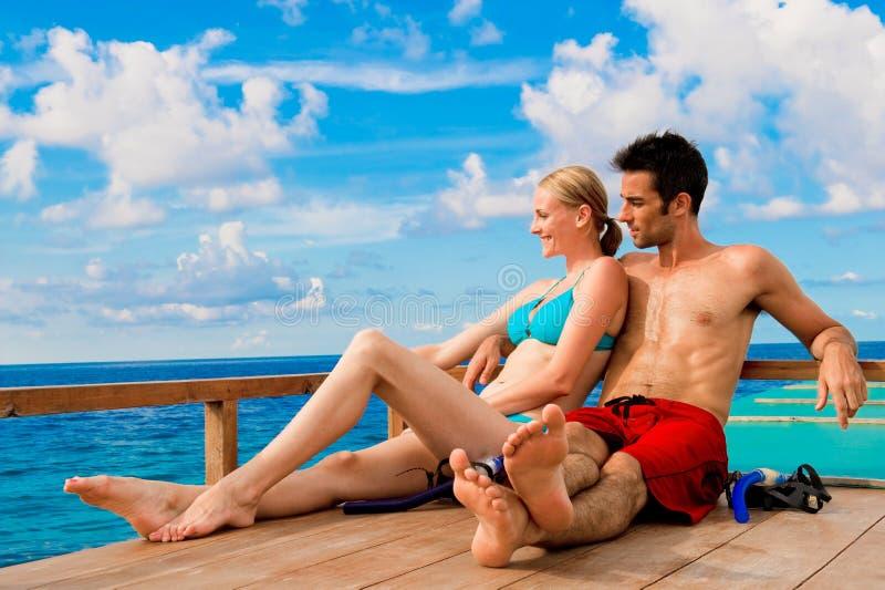 Couple  On Boat Royalty Free Stock Photo