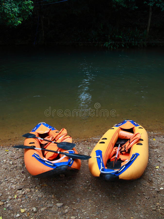 Couple boat for adventure royalty free stock photos