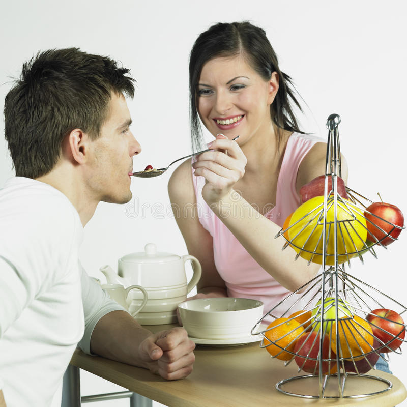 Download Couple during breakfast stock image. Image of boyfriend - 25166201