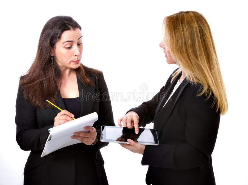 Couple of business woman royalty free stock images