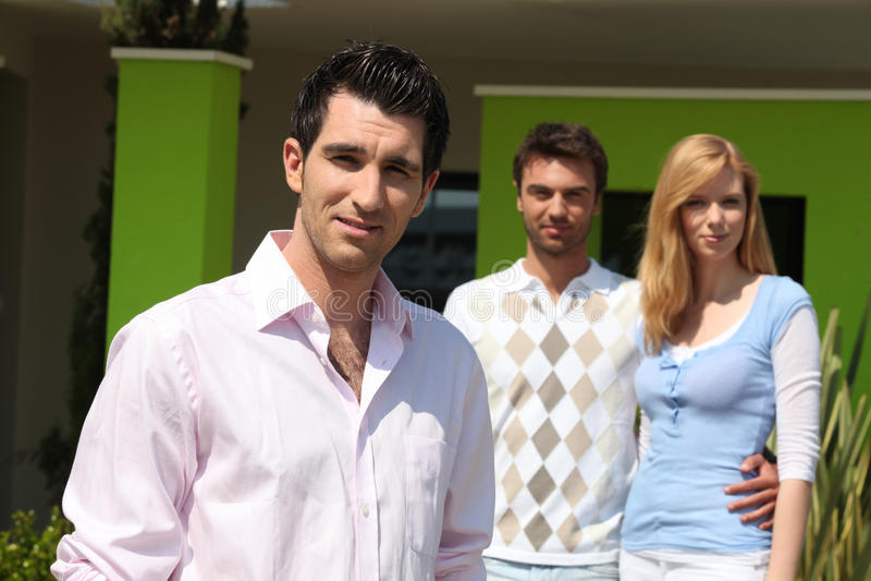 Download Couple buying a house stock photo. Image of enjoying - 28191720