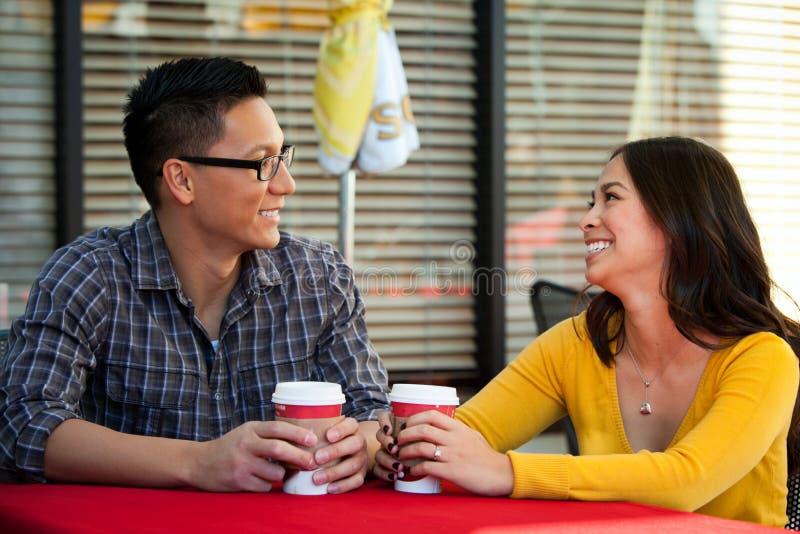 Couple cafe royalty free stock photo