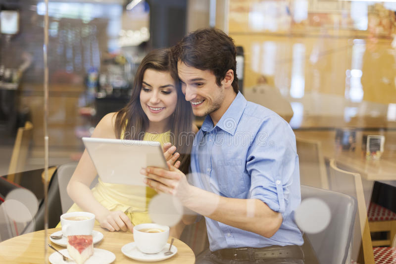 Download Couple At Cafe Royalty Free Stock Photo - Image: 37800085