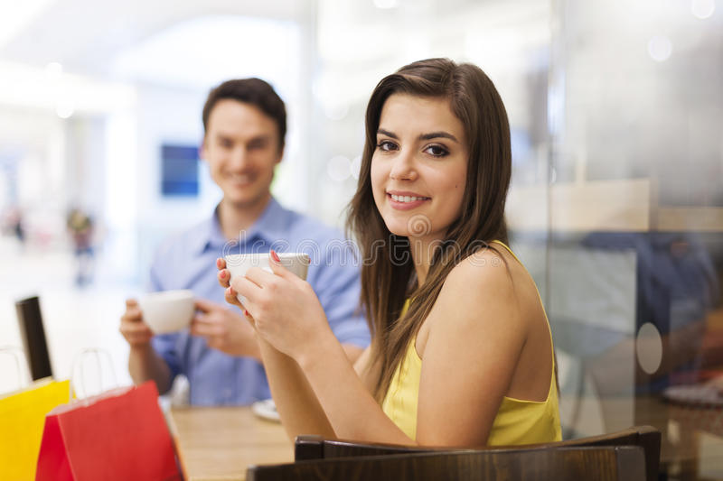 Download Couple at cafe stock image. Image of portrait, shop, break - 37800201