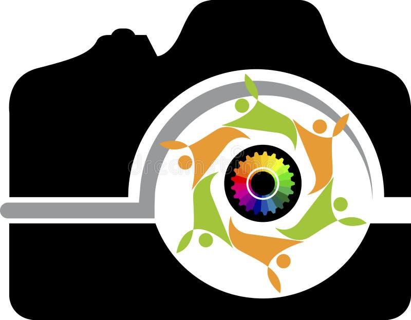Couple camera logo royalty free illustration