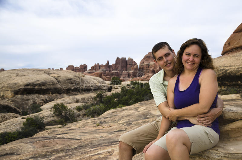Couple in Canyonlands royalty free stock photo