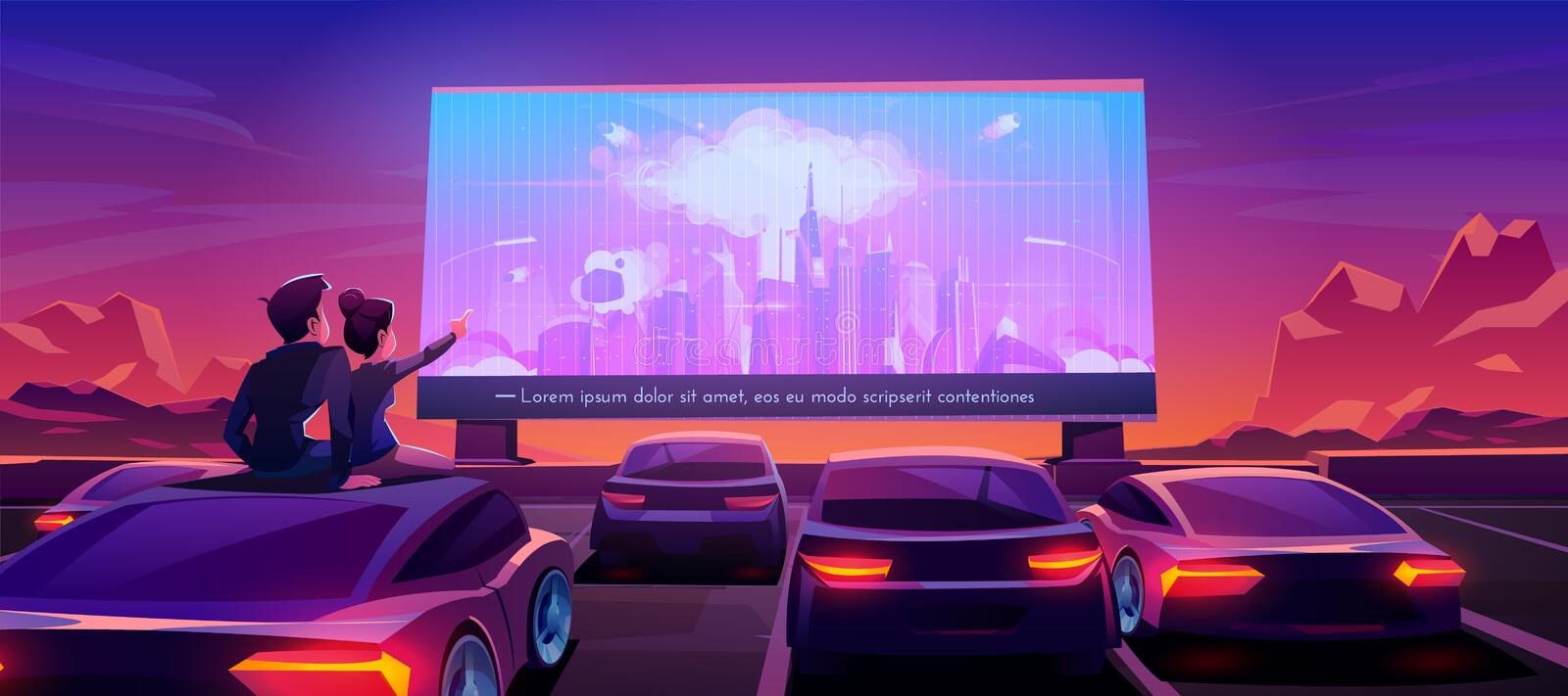 Drive Theater Stock Illustrations 169 Drive Theater Stock Illustrations Vectors Clipart Dreamstime