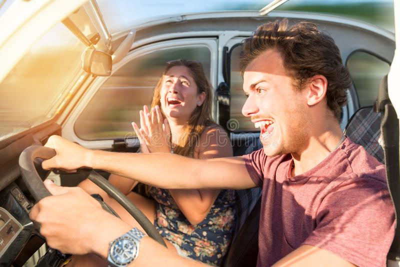 Driving fast royalty free stock image