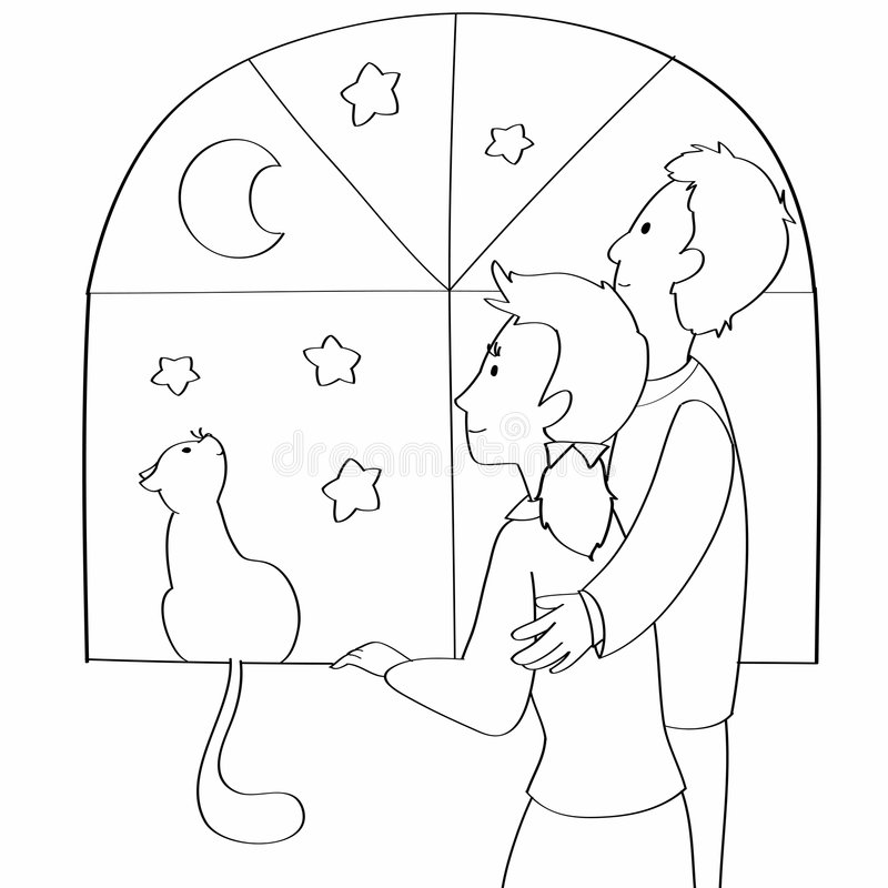 Download Couple And Cat Coloring Vector Stock Vector - Illustration: 6587178