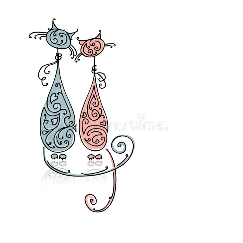 Download Couple Of Cats For Your Design Stock Vector - Image: 34451669