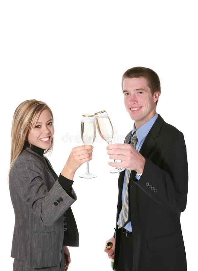 Download Couple Celebrating stock photo. Image of glass, beautiful - 1851154