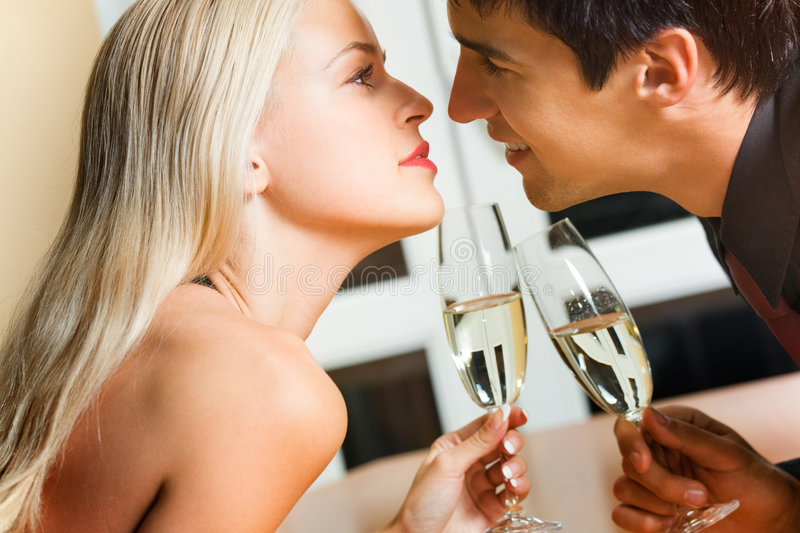 Download Couple celebrating stock image. Image of glass, celebrate - 7802581