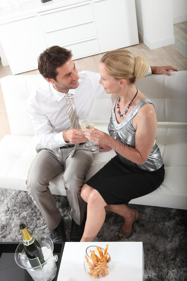 Download Couple Celebrating With Champagne Stock Photo - Image: 27092408